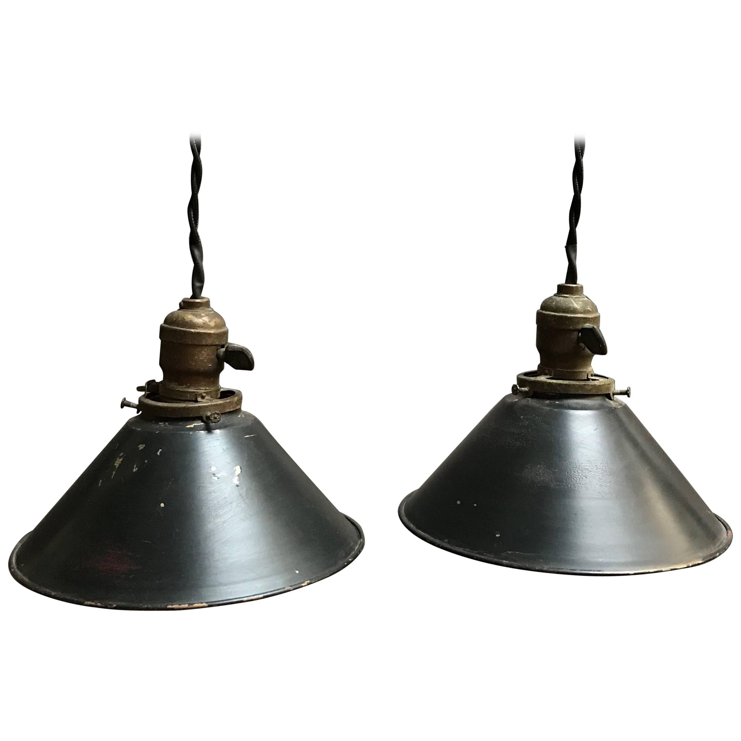 Industrial Painted Black Cone Shape Factory Pendant Lights