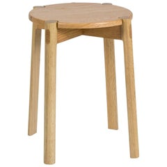 Contemporary Danish Style Wooden Stool'