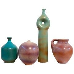 Suzanne Ramie, Madoura, Four Colorful Ceramics