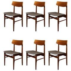 Six Danish Teak Dining Chair