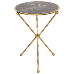 Italian Marble and Brass Side Table