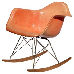 Rope Edge Zenith RAR Rocker by Charles & Ray Eames in Orange