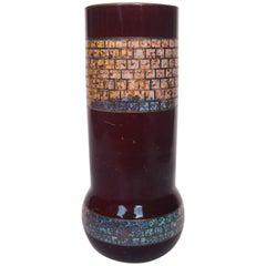 Art Nouveau 'Metal Look' Vase by Carl Goldberg