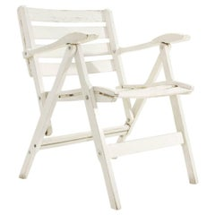 Italian Armrest Folding Chair by Fratelli Reguitti