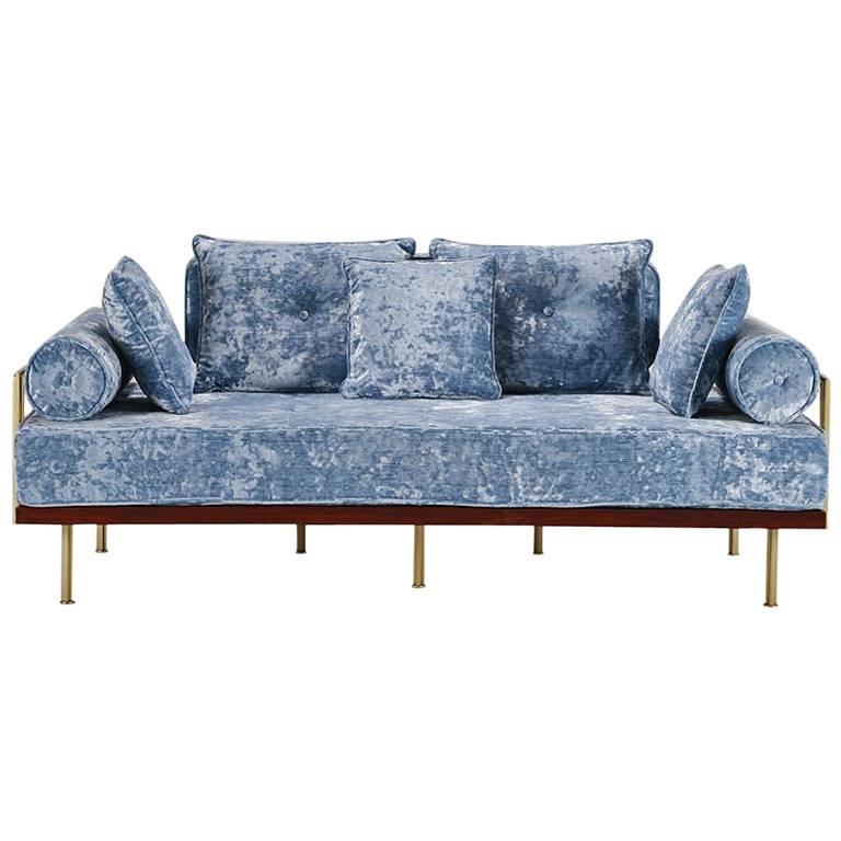 Bespoke Two-Seat Sofa in Modelli Fabrics, Fantasia-Blue Lagoon by P.Tendercool 1