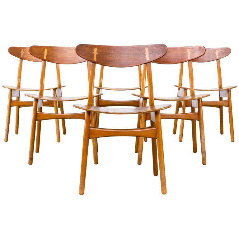1950s Hans J Wegner CH-30 Dining Chairs for Carl Hansen & Son Set of Six