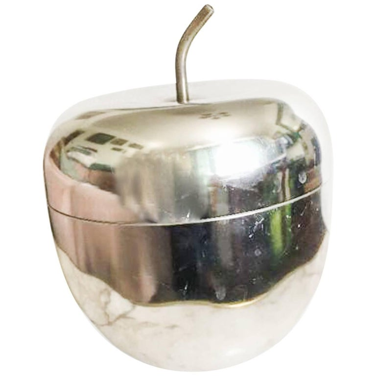20th Century Apple Shaped Chrome Ice Bucket in the Style of Mauro Manetti, 1970s