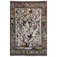 Hunting Ground, Hand-Knotted Tabriz Carpet/Rug