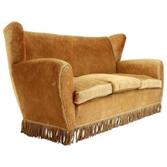 Italian Three-Seat Sofa by Poltrona Frau