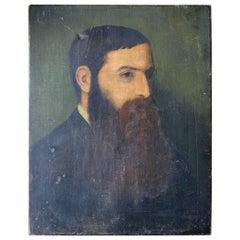 Circle of G.F. Watts, Portrait of a Bearded Gentleman, circa 1850-1870