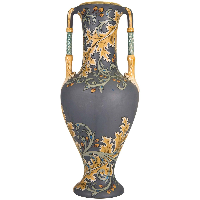 Art nouveau vase from villeroy and boch mettlach marked 1904 at mettlach art nouveau vase with floral decor circa 1900 reviewsmspy