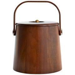 Danish Mid-Century Teak Ice Bucket
