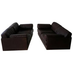 Two-Seat, De Sede Ds 76 Leather Modular Lounge Sofa Daybed