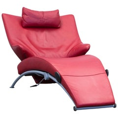 Wk Wohnen Solo 699 Designer Chair Leather Red Function Couch Modern