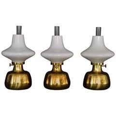 Three Henning Koppel Petronella Oil Lamp by Louis Poulsen, Denmark