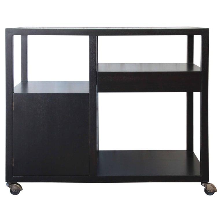 Harvey Probber Mid-Century Modern Ebonized Mahogany Bar Cart