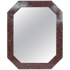 Ferdinand Digennaro Octagonal Mirror Faux Bois Painted Mirror
