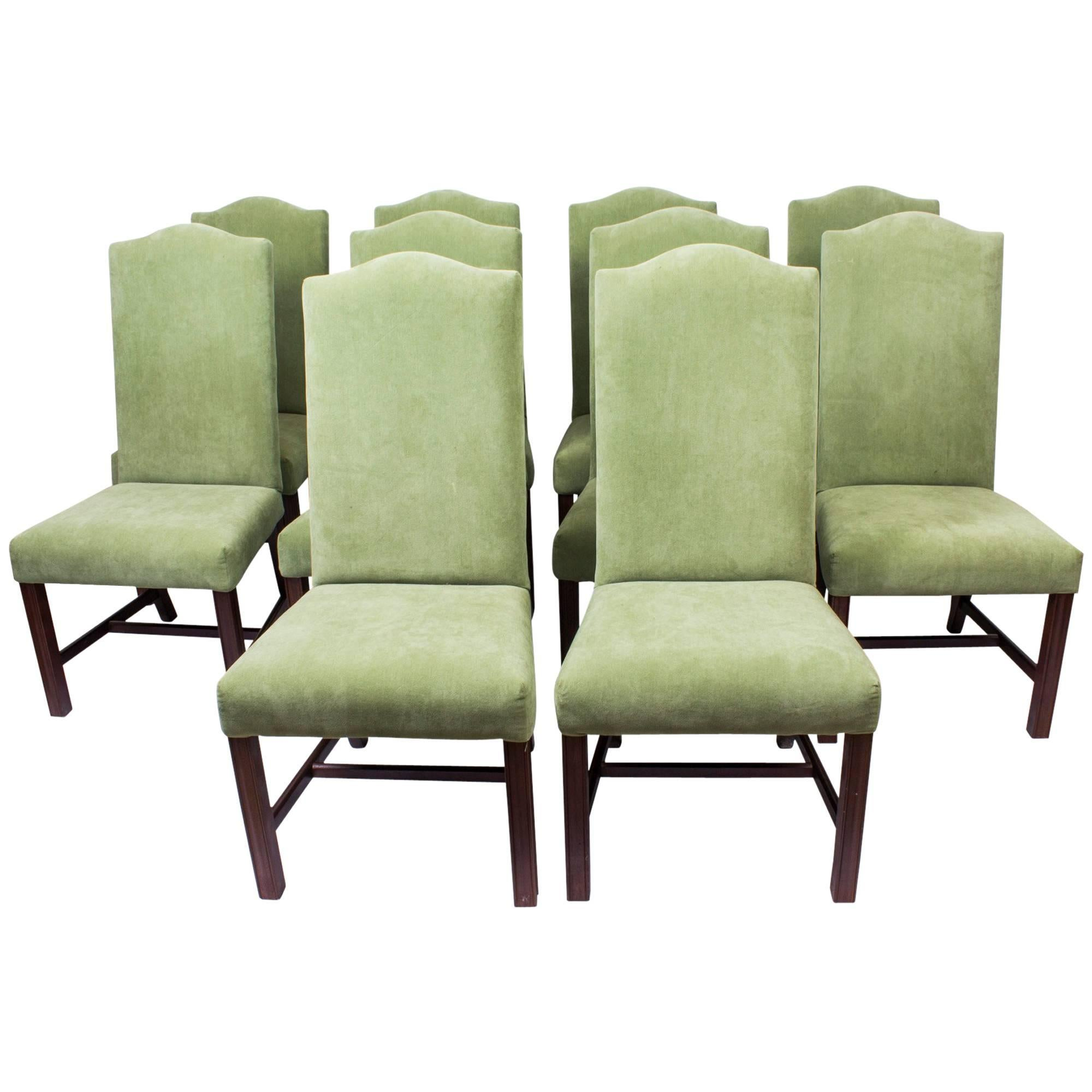High Back Dining Chairs Wingback Dining Chair Nailhead Dining Room