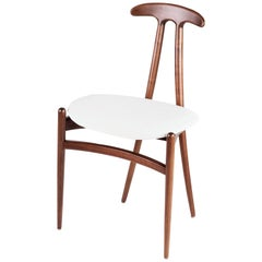 Contemporary 'Bianca' Side Chair in Walnut by Konekt