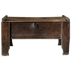Rare Tall 16th Century Boarded Chest