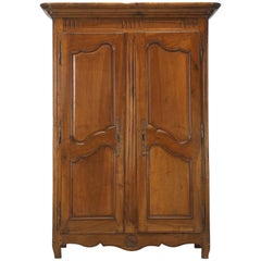 Antique French Armoire in Solid Walnut from the Toulouse Area, circa 1775