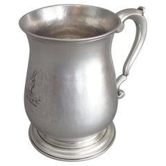Fine George II Half Pint Mug Made in London in 1758 by Thomas Moore