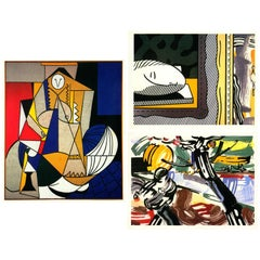 Vintage Roy Lichtenstein Exhibition Announcements, Set of Three