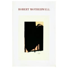 Vintage Robert Motherwell Announcement Card, Color Intaglios
