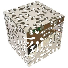 Sculptural Cut Out TriMark Side Cube Table