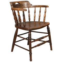Victorian Antique Bow-Back Chair, English Elm Windsor, circa 1870
