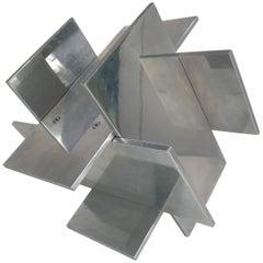 Midcentury Geometric Chrome Sculpture