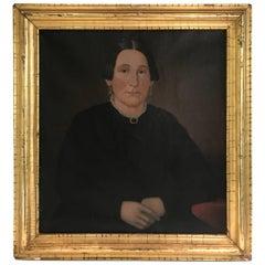 19th Century American School Portrait of a Woman