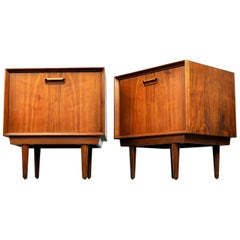 Pair of Arne Wahl Iversen Rosewood Nightstands