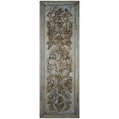 19th Century Italian Carved Wood Panel