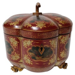 Chinese Export Melon Form Tea Caddy