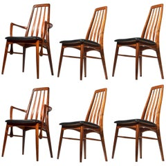 Niels Koefoed for Koefoeds Hornslet 'Eva' Rosewood Dining Chairs, Set of Six