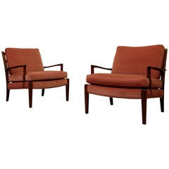 Pair of Arne Norell Easy Chairs Model Löven, 1960s