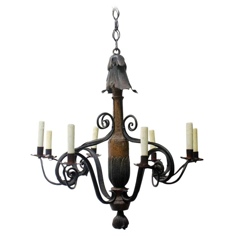 French Art Nouveau-Style Chandelier