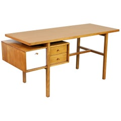Early Milo Baughman Birch Desk