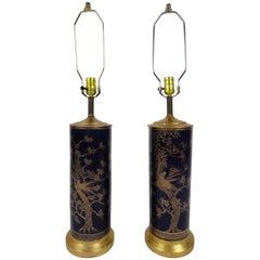 Pair of Powder Blue Porcelain Lamps
