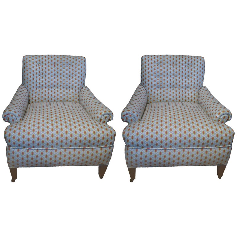 Pair of 1940s Club Chairs
