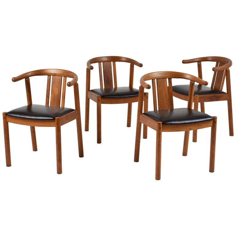 Set of Four Danish Mid-Century Modern-Style Dining Chairs