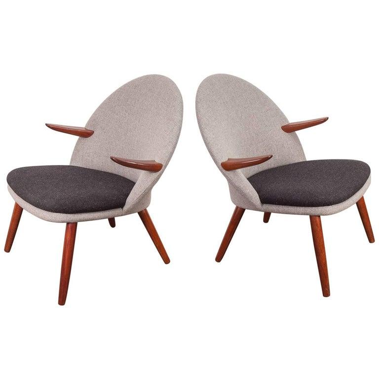 Pair of Kurt Olsen Easy Chairs for Glostrup Mobelfabrik