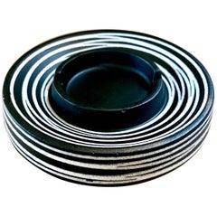 Mod Black and White Royal Haeger Ceramic Ashtray