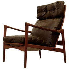 Ib Kofod-Larsen High Back Easy Chair Model Örenäs, 1960s