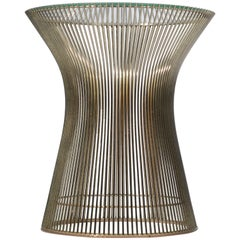 Side Table by Warren Platner for Knoll with Glass Top