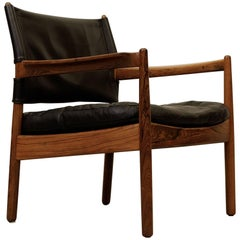 Gunnar Myrstrand Rosewood Easy Chair by Källemo, Sweden, 1960s