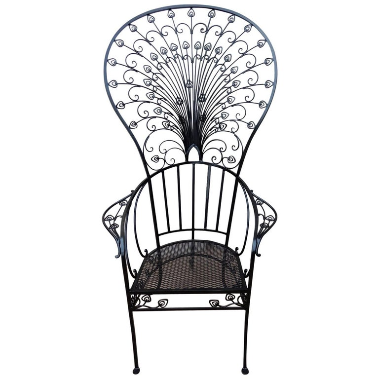 "Peacock ""Salterini"" Patio Chair by Florentine Craft Studio"