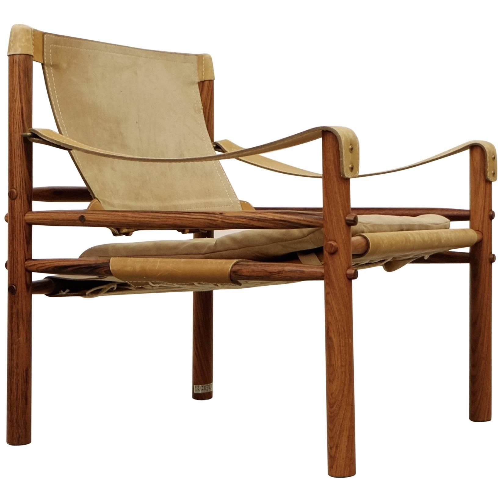 Exceptionnel Arne Norell Safari Chair Model Sirocco, 1960s