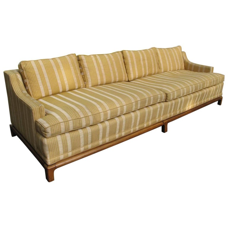 Striped Cotton Silk Century Sofa At 1stdibs